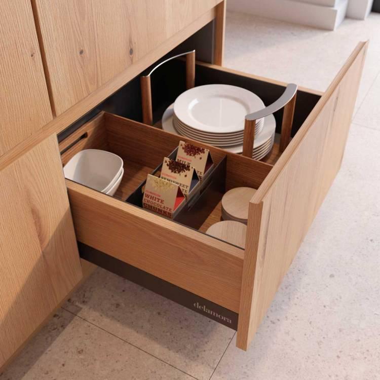 Accesorios cocina cajon con compartimentos